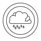 chiffre icône rainning de nuage Photo stock