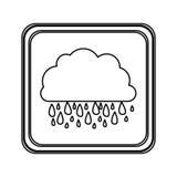 chiffre icône rainning de nuage d'emblème Photographie stock