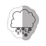 chiffre icône rainning et de chute de neige de nuage Photo libre de droits