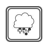 chiffre icône rainning et de chute de neige de nuage d'emblème Photo libre de droits