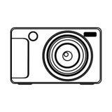 chiffre icône technologic d'appareil photo numérique Photographie stock