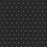 Chiffre isométrique Fond noir et blanc Photos stock