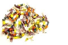Chiffre miniature de jouet présenté image libre de droits