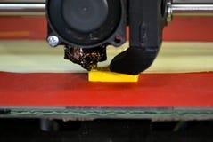 Chiffre moderne plan rapproché d'impression de l'imprimante 3D Photo libre de droits