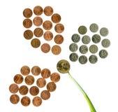 chiffre nickel national s u de pièces de monnaie de fleur Images stock