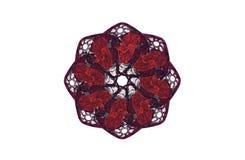 Chiffre noir rouge de fractale agressive abstraite Image libre de droits
