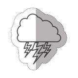 chiffre nuage avec l'icône de rayon Photographie stock libre de droits