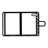 chiffre ordre du jour avec l'icône d'étiquettes Images stock