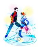 Chiffre patinage de paires. Images libres de droits
