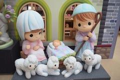 Chiffre précieux Jesus Nativity de moments Image libre de droits