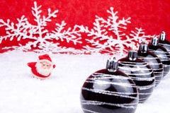 Chiffre rouge de Santa sur le fond rouge Images libres de droits