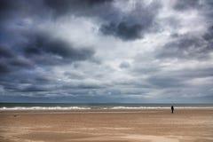 Chiffre solitaire à la plage de Harve Aubert Images libres de droits
