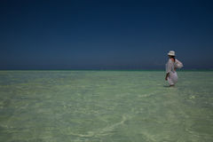 Chiffre solitaire sur la plage dans Michamwi-Pingwe Zanzibar, Photos stock