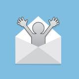 Chiffre surprise d'enveloppe Image stock