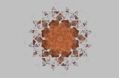 Chiffre symétrique d'or de fractale abstraite sur le gris Photographie stock libre de droits