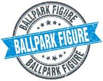 Chiffre timbre de stade de base-ball Images stock