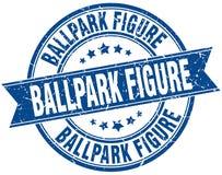 chiffre timbre grunge de stade de base-ball de ruban Photographie stock libre de droits