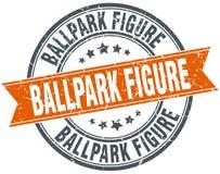 chiffre timbre grunge rond de stade de base-ball Photos stock