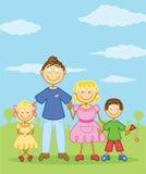 chiffre type heureux de famille de bâton d'illustration Photos libres de droits