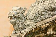 Chiffre usé-vers le bas de dragon Photo stock