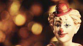 Chiffre vacances de portrait de clown de longueur banque de vidéos