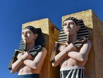 Chiffres égyptiens de pharaons Photographie stock libre de droits