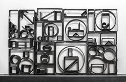 Chiffres abstraits de fer Photos libres de droits