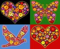 Chiffres abstraits de fleurs Images stock