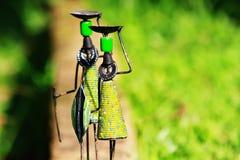 Chiffres africains traditionnels de bâton de métier avec des lances Image libre de droits