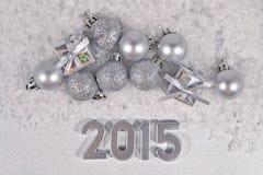 chiffres argentés de 2015 ans Photo stock