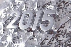 chiffres argentés de 2015 ans Images libres de droits
