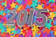chiffres argentés de 2015 ans Image stock
