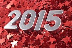 chiffres argentés de 2015 ans Photographie stock libre de droits
