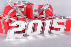 chiffres argentés de 2015 ans Images stock