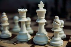 Chiffres blancs d'échecs Photos libres de droits