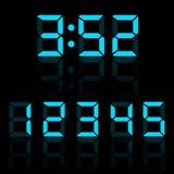 Chiffres bleus d'horloge Image stock