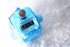 Chiffres changeant à partir de 2016 à 2017 Concept d'an neuf Photographie stock libre de droits
