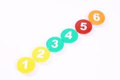 Chiffres colorés Image stock