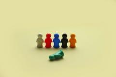 Chiffres colorés de jeu photographie stock