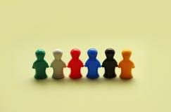 Chiffres colorés de jeu photos stock
