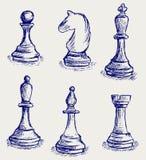 Chiffres d'échecs Images libres de droits