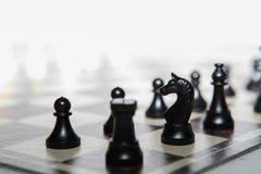 Chiffres d'échecs - concept de stratégie et de direction Photos libres de droits