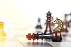 Chiffres d'échecs - concept de stratégie et de direction Images libres de droits
