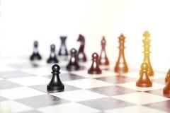 Chiffres d'échecs - concept de stratégie et de direction Photos stock