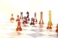 Chiffres d'échecs - concept de stratégie et de direction Photographie stock libre de droits