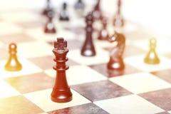 Chiffres d'échecs - concept de stratégie et de direction Photo libre de droits