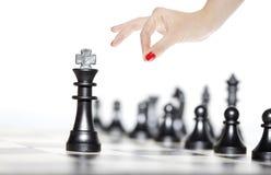 Chiffres d'échecs - stratégie et direction Photographie stock libre de droits