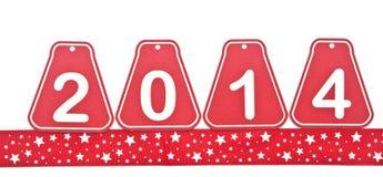 chiffres d'étiquette de 2014 ans Photographie stock libre de droits
