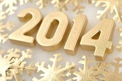 chiffres d'or de 2014 ans Photographie stock libre de droits