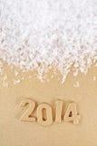 chiffres d'or de 2014 ans Photographie stock